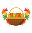 happy thanksgiving cartoon vector image vector image