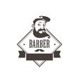 hipster man barbershop logo vector image vector image