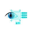 human eyeball scan reading security information vector image vector image