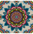 Indian mandala seamless pattern vector image