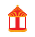 isolated empty carnival carousel icon vector image