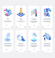 isometric artificial intelligence for business vector image vector image