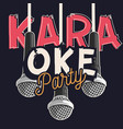 karaoke party music design with microphones vector image vector image