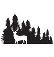 landscape with forest and deer vector image