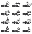 Loan Hands with Objects Credit vector image vector image