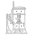 minting press from royal mint front view vintage vector image vector image