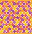 multicolor scallops scales seamless pattern vector image vector image
