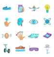 New technologies icons set cartoon style vector image vector image
