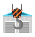 New warehouse flat icon vector image vector image