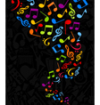 notes background vector image vector image