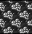 paisleys seamless pattern black repeating floral vector image vector image