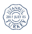 postal stamp from turkey vector image vector image