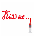 red inscription Kiss me vector image