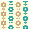 Retro flowers seamless background - blue and brown vector image vector image