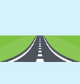road with natural landscape background summer vector image