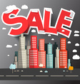 Sale Title above City vector image vector image
