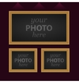 set 3 photo frames vector image
