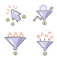 set of conversion optimization and lead vector image vector image