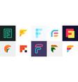 set of letter f logo vector image