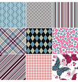 Set seamless vintage colorful patterns vector image