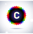 Spectrum logo icon Letter C vector image