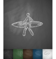 surfer with surfboard icon Hand drawn vector image vector image