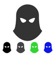 terrorist balaklava flat icon vector image vector image