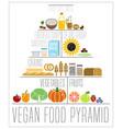 the vegan food pyramid vector image vector image