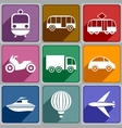 Transport icons vector image vector image