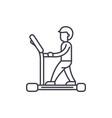 treadmill line icon concept treadmill vector image vector image