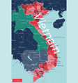 vietnam country detailed editable map vector image vector image