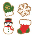 winter holiday decorated cookies christmas vector image