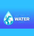 world water day logo icon design vector image vector image