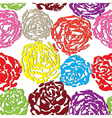 Seamless flower background with colorful rose vector image