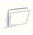 Sketched full folder desktop icon vector image