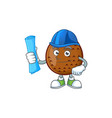 architect sweet salak cartoon with character vector image vector image
