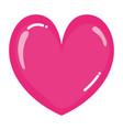 beauty heart romance symbol style vector image vector image