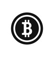 bitcoin sign on white vector image