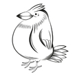 Black and white bird vector image