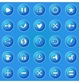 blue buttons for game ui vector image vector image