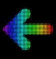 bright dot arrow left icon vector image vector image