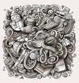 cartoon doodles winter toned vector image vector image