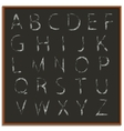 Chalk hand drawing alphabet vector image vector image