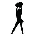 cheerleader silhouette vector image