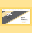 city airport landing page template