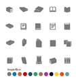Collection Icons set Book vector image vector image