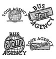 color vintage tour agency emblems vector image vector image
