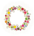 Colorful dots border vector image vector image
