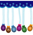 colorful easter eggs background vector image