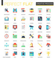 creative process complex flat icon concept vector image vector image
